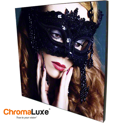 ChromaLuxe Sublimation Blank MDF Photo Panel - 11.6 x 11.6 - Chamfer Edge - Gloss White