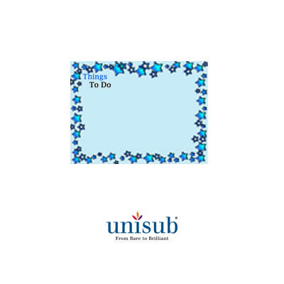 Unisub 8x10 Gloss White Steel Dry Erase Board
