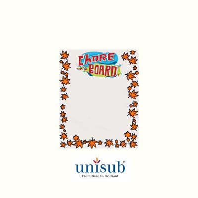 Unisub 9x12 White Gloss Steel Dry Erase Board