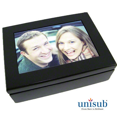 Sublimation Unisub Espresso Black Keepsake Box