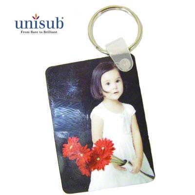 Unisub Aluminum Rectangle Key Tag White Gloss