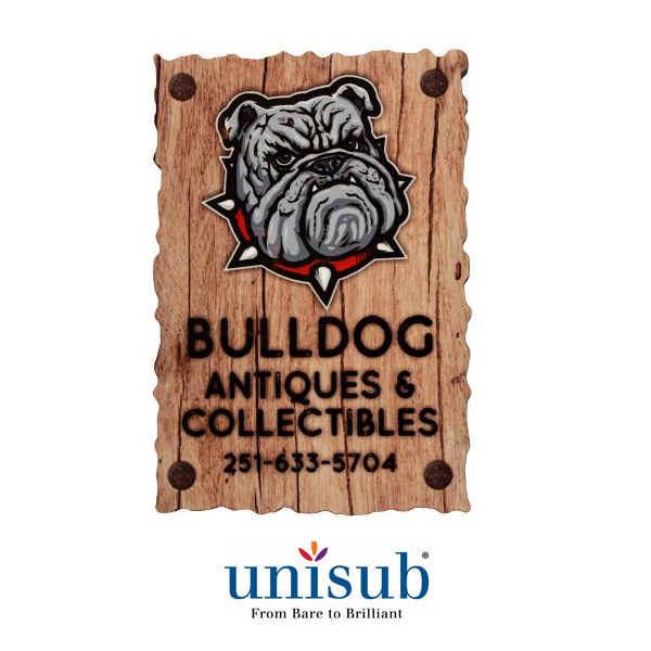 Unisub Sublimation Blank Rustic Edge Hardboard Magnet - 2.37 x3.5 - Rectangle