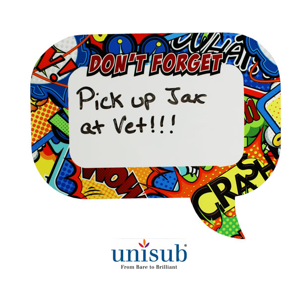 Unisub Sublimation Blank Speech Bubble - 8x10