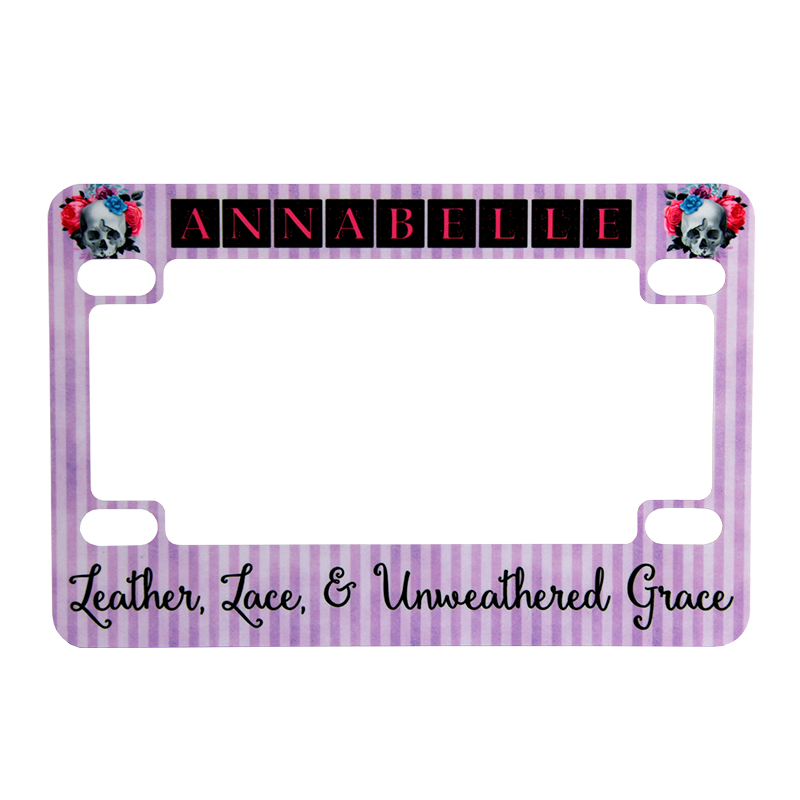 Unisub® Sublimation Blank Motorcycle License Plate Frame - Gloss White