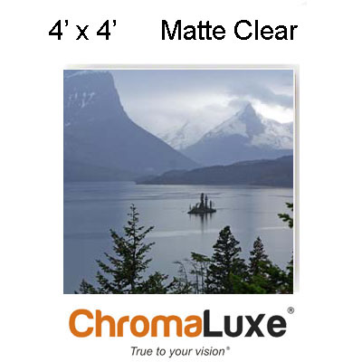 49x48.5 ChromaLuxe Aluminum Sheet Stock ClearMatte