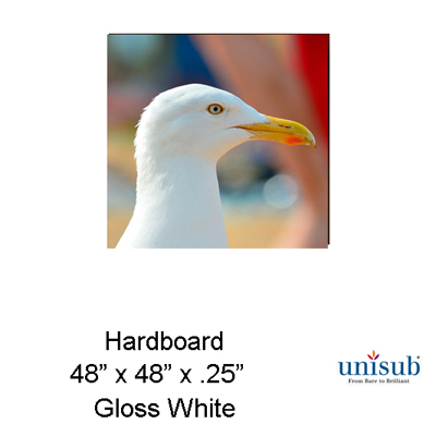 Unisub 48x48 Hardboard Sheet Stock - Gloss White