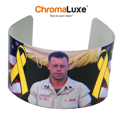 Chromaluxe Sublimation Blank Cuff Bracelet - Large - White Gloss