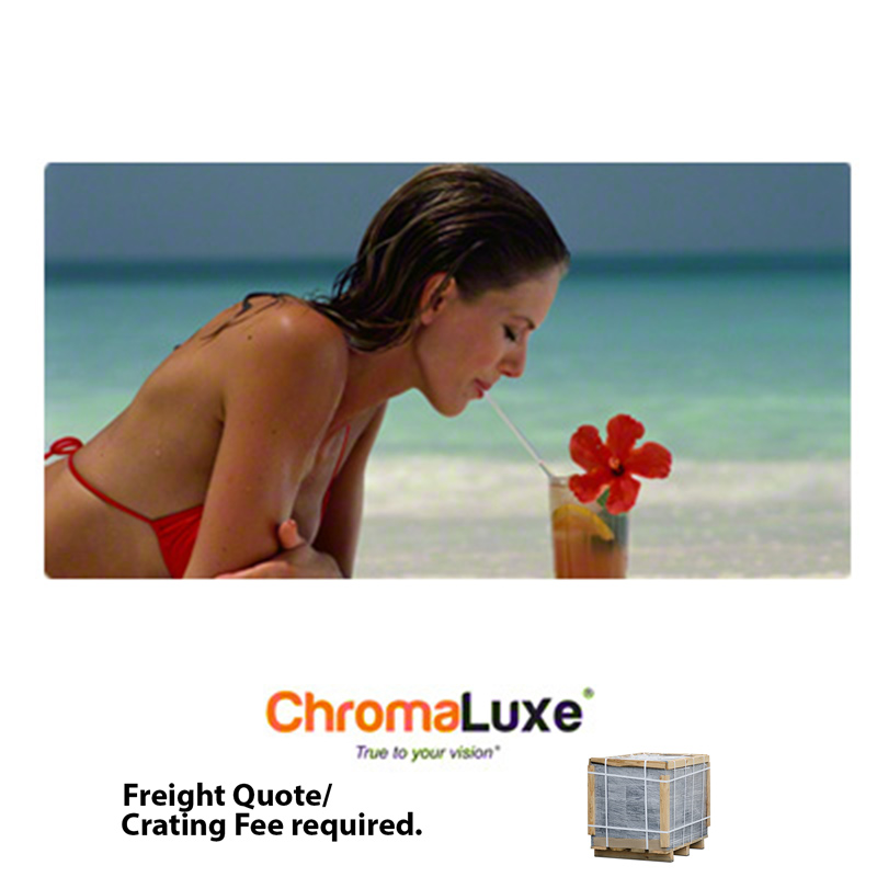 18x36 ChromaLuxe™ Matte White Aluminum Photo Panel