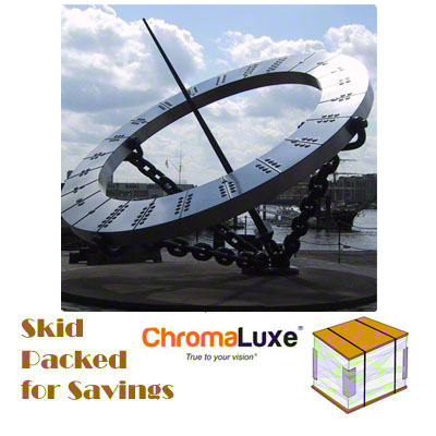 48x48 ChromaLuxe™ Matte White Aluminum Photo Panel