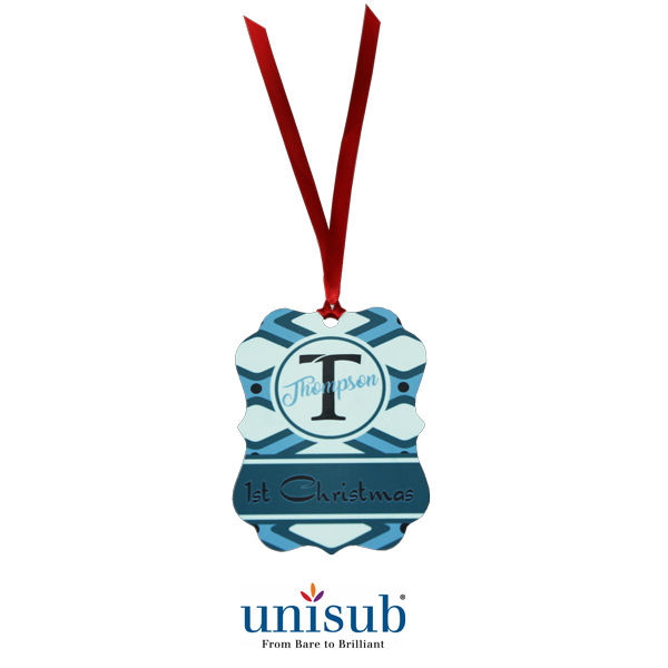 Unisub Sublimation Blank Aluminum Ornament - 2.76