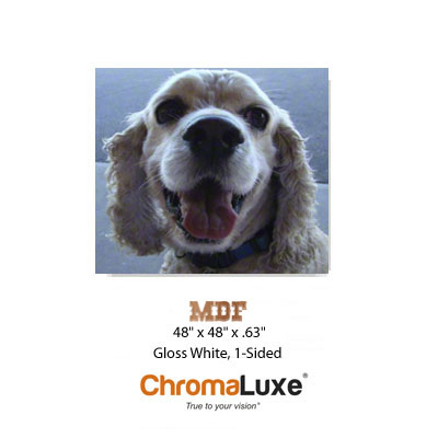 ChromaLuxe 48x48 MDF Sheet Stock - Gloss White