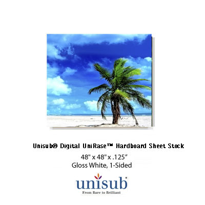 UniRase 48x48 Hardboard Sheet Stock - Gloss White