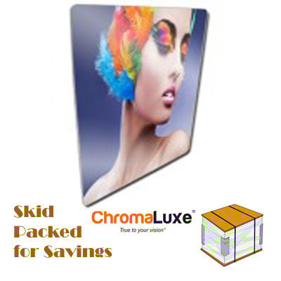 48.5x49 ChromaLuxe Aluminum Sheet SemiGloss White