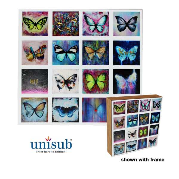 8x8 Unisub Hardboard for ShoutBox - Gloss White