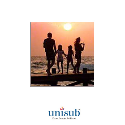 Unisub Sublimation Blank Hardboard Tile - 8