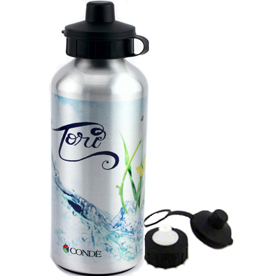 Sublimation Coated 600ml Aluminum Water Bottle