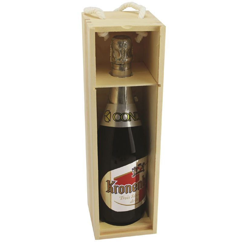 Designer Wood Wine Case - Natural Wood