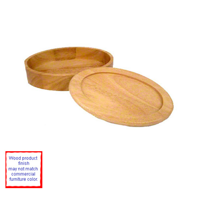 DyeTrans Sublimation Blank Maple Finish Wood Keepsake Box - Oval