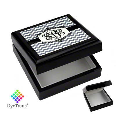 DyeTrans® Designer Lacquered Black Wooden Box
