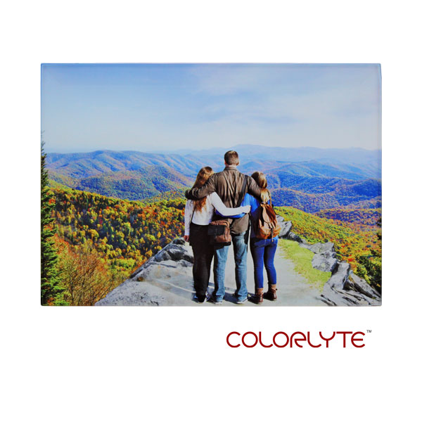 5x7 ColorLyte Photo Glass Panel- Beveled - Frosted