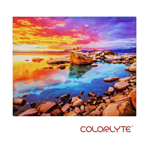 ColorLyte Sublimation Blank Beveled Photo Glass Panel - 8