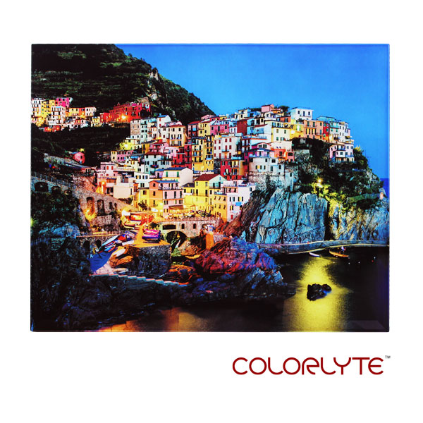 ColorLyte Sublimation Blank Beveled Photo Glass Panel - 11 x 14