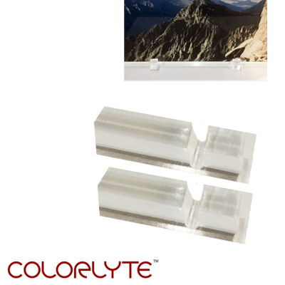 ColorLyte® Slotted Acrylic Photo Glass Feet, Small